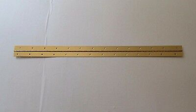 """ONE Brass Plated Steel Piano Hinge 1"""" x 1""""x 30"""" 20 Gauge Made in USA"""
