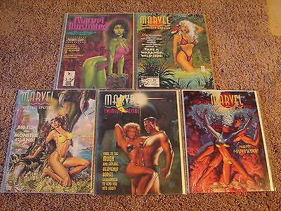 Marvel Illustrated Swimsuit Issue's 1-5. VF condition. Full run set.