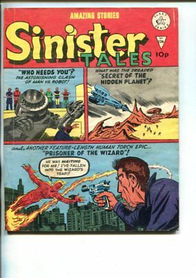 SINISTER TALES  #136-1960'S-ALAN CLASS-HUMAN TORCH-STEVE DITKO-MORISIS-vg