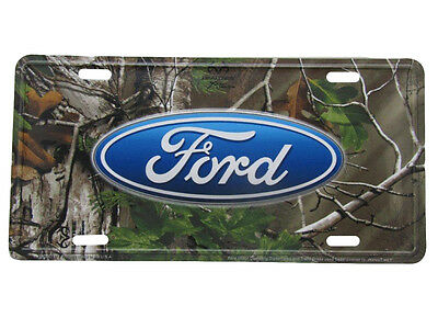 """Ford Woodland Camo Camouflage Realtree 6""""x12"""" Aluminum License Plate Tag"""