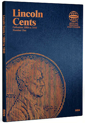 Whitman Coin Folder 9004 Lincoln Cent #1 Penny 1909 - 1940  Album / Book