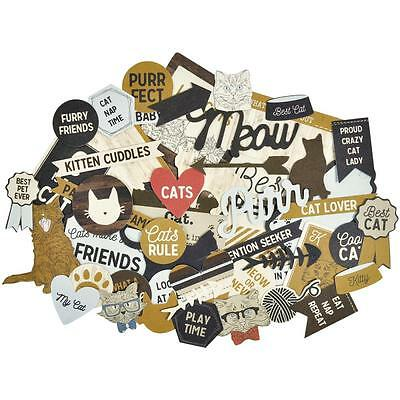 Pawfect Cat Diecuts Kaisercraft Collectables Cardstock Die Cuts