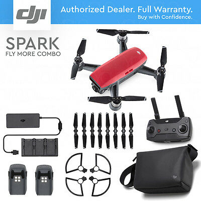 DJI SPARK FLY MORE COMBO - Lava Red. 12MP Camera, 1080p Video, Active Track