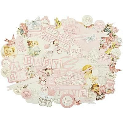 Peek A Boo Girl Diecuts Kaisercraft Collectables Cardstock Die Cuts Baby Vintage
