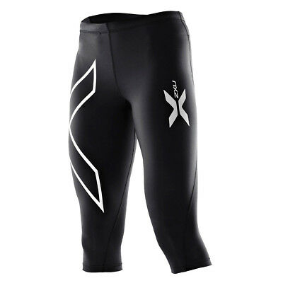 2XU Women's Thermal 3/4 Compression Tights Black/Black XL