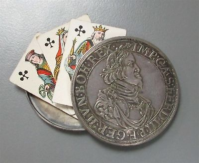 1639 Silver Augsburg Germany Thaler Box Dollar With 3 Mini Cards
