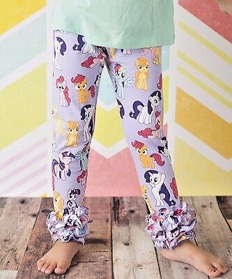 Girls My Little Pony MLP ruffle pants, bottoms 24 2T 3T 4T 5 6 7 8 9 yr.