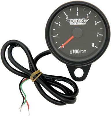 "DS Mini Electronic Tachometer With Orange Needle 2.4"" Matte Black"