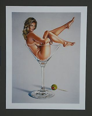 Mel Ramos Kunstdruck Art Print XXL Martini Miss 1993 The Lost paintings of 1965