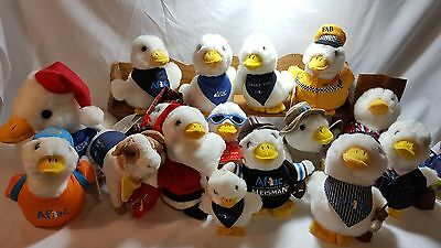 Aflac plush duck assortment of various duck characters.