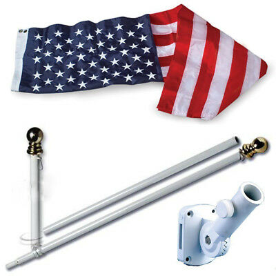 American Home Nylon 3 by 5-Feet US Flag Set with 6-Feet Spinning Flag Pole