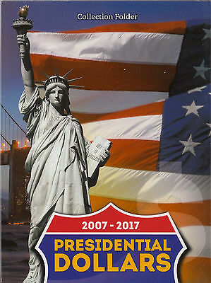 US Presidenten Dollar Collection Folder / Album 2007 - 2017