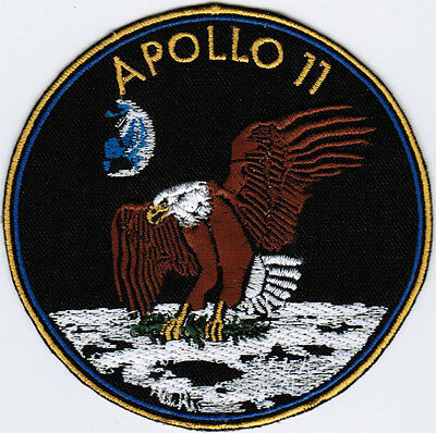 Apollo 11 NASA Human Space Flight Moon Badge Iron On Embroidered Patch