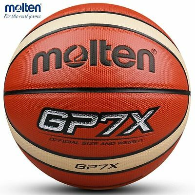 Molten GP7X 7 PU men's basketball indoor within bag net needle whistle pump