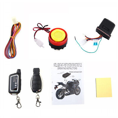 2-Way Motorcycle Anti-theft Alarm System Immobiliser Security LCD Remote Control
