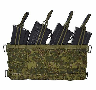SPOSN SSO Molle Fast Pouch For 4 AK MAGS EMR Digital Flora Original Russian