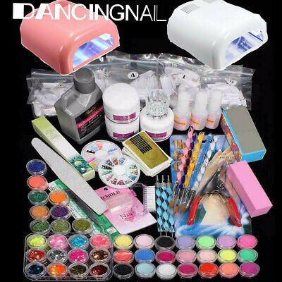 36W 220V Kit Acrilico Uñas Manicura Pedicura Lámpara Completo Nail Art Gel Set
