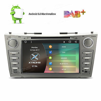 "Car DVD Player 8"" Android 6.0 OBD2 GPS 1080P Radio Head Unit Toyota Camry Aurion"