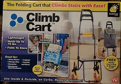 The Climb Cart Stair Climbing Folding Utility Storage Cart AS SEEN ON TV - NEW!