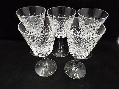 Waterford Crystal Alana 5 Claret Wine Glasses, 5 7/8""