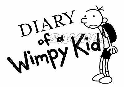 IRON ON TRANSFER OR STICKER - Diary of a Wimpy Kid - Book Week Costume Dress Up