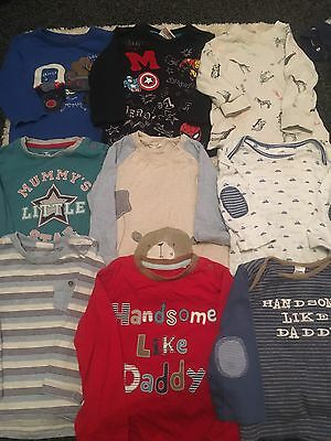 13 x Long Sleeved Baby Boy T-Shirts 12-18 Months Excellent Condition