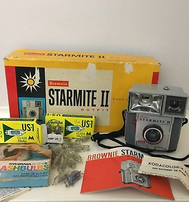 Vintage Kodak Camera Brownie Starmite Ii. Plus Group Lot Camera Collectables