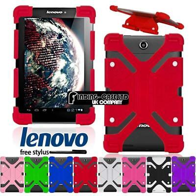 """Shockproof Silicone Stand Cover Case For Various 7"""" Lenovo Tab / IdeaPad +Stylus"""