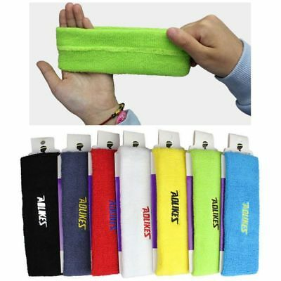AU Wide Yoga Gym Sports Stretch Cotton Headband Head Hair Band Women Men Unisex