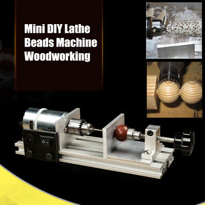 Mini Lathe Beads Polisher Machine 24V 50W For Table Woodworking Wood DIY Tools