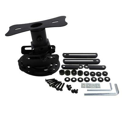 Universal Adjustable Ceiling Projector Theater Mount Black | Extending Arms