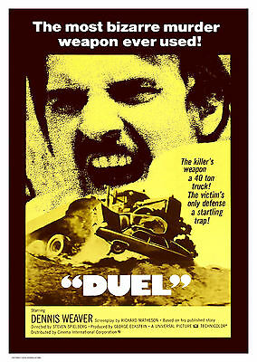 Duel (1971) - A2 A3 A4 POSTER ***LATEST BUY 1 GET 1 FREE OFFER***