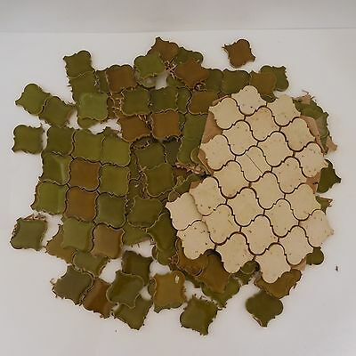 154 carreaux carrelage faïence tile tiles mosaic ceramic green brown bronze