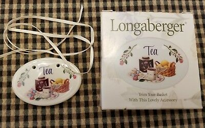Longaberger Tea Tie-on NIB Ceramic