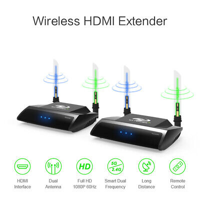 A26 5.8G 300m HDMI AV Wireless Audio Video Transmitter Empfänger LOOP OUT STB PC