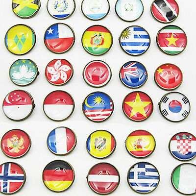 Country Flag Pin Badge Button Brooch Hat Cap Tie Pin all world