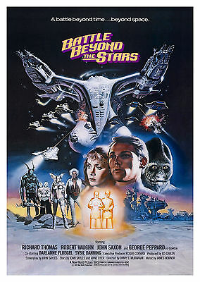 Battle Beyond the Stars (1980) V2 - A2 A3 A4 POSTER ***RETOUCHED AND RESTORED***