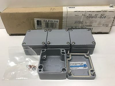 Set Of (4) New Old Stock Rittal 58X64X34Mm Ip-66 Electrical Boxes Ga-9101.210