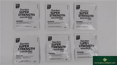 Bayer Garden Super Strength Glyphosate Weedkiller 6 x 8g Sachets (No Box)