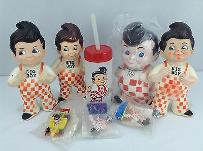 Big Boy Restaurant Lot of 4x Banks, Sippy Cup, and 3 Toys Vintage 1973 1980