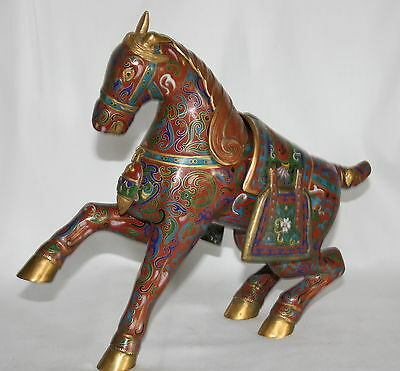 Early 20th Century Censor in the Form of a Cloisonne Horse