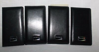 Discover Bill Check Presenter Folder Credit Card Holders X 4 w/ Pens Top Quality
