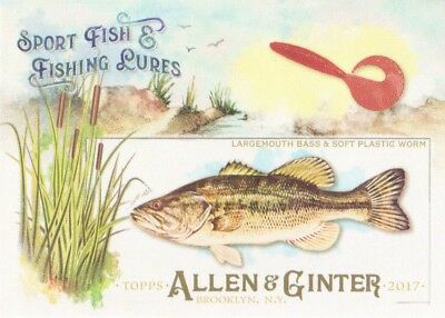 2017 Topps Allen & Ginter Sport Fish & Fishing Lures #SFL-6 Largemouth Bass