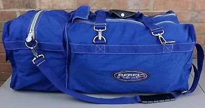 Pepsi Cola Large Duffle Bag Luggage Travel Carry On Blue