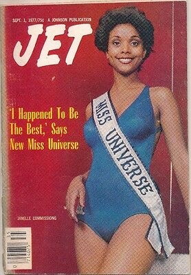 JET MAGAZINE 9/1/1977 JANELLE COMMISSIONG 1st BLACK MISS UNIVERSE no label