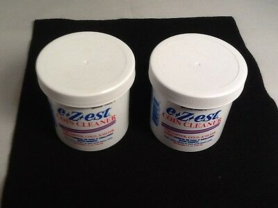 (2) 5 oz e-Zest Coin Cleaners for Silver Gold Copper New Sealed Container