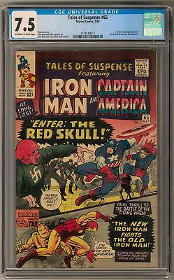 Tales of Suspense #65 CGC 7.5 (OW-W) 1st Silver Age Red Skull