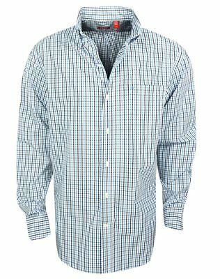 Mens Izod Essential Tattersall Long Sleeve American Dream Check Shirt NEW w/Tags