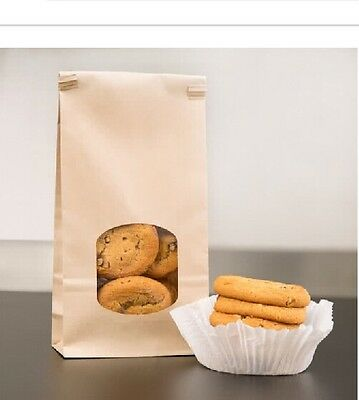 Bulk Cookie Bags- Natural w/ Window