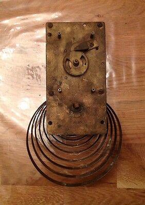 Antique Wall Clock Movement Mechanism For Restoration Or Collecting 28x16